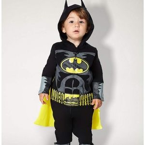 🎃Baby's 0-6m Batman Coverall Costume with Cape🎃